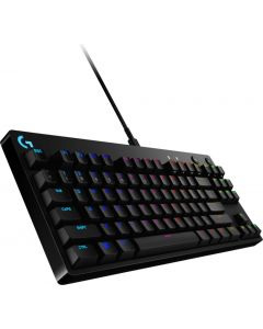 Logitech - G Pro Mechanical Wired Gaming GX Blue Clicky Switch Keyboard with RGB Back Lighting - Black